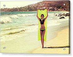 Bond Girl Laguna Beach Acrylic Print