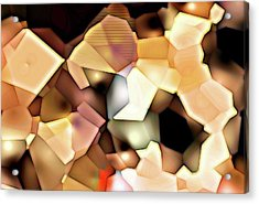 Bonded Shapes Acrylic Print by Ron Bissett