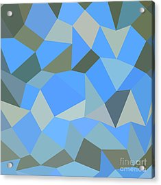 Bondi Blue Abstract Low Polygon Background Acrylic Print by Aloysius Patrimonio