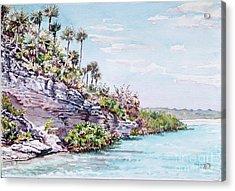 Bonefish Creek Watercolour Study Acrylic Print