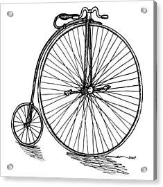 Boneshaker Bicycle Acrylic Print by Karl Addison