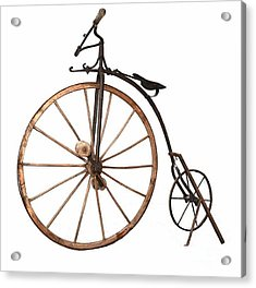 Acrylic Print featuring the painting Boneshaker Bike by Pg Reproductions