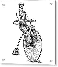 Boneshaker Velocipede Bicycle Acrylic Print by Karl Addison