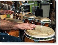 Bongo Hand Drums Acrylic Print
