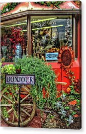 Acrylic Print featuring the photograph Bonjour Hello Good Day by Thom Zehrfeld