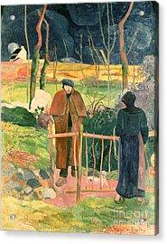 Bonjour Monsieur Gauguin Acrylic Print by Paul Gauguin