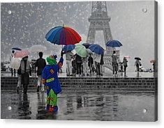 Bonjour Paris Acrylic Print
