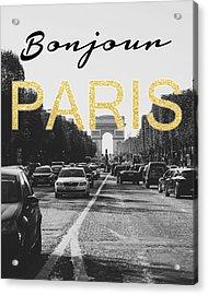 Bonjour Paris Acrylic Print by Pati Photography