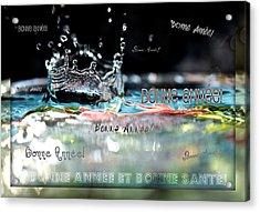 Bonne Annee Card Acrylic Print by Lisa Knechtel