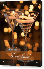 Bonne Annee Happy New Year In French Acrylic Print