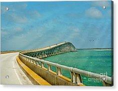 Bonner Bridge - Highway 12 Nc Acrylic Print by Anne Kitzman