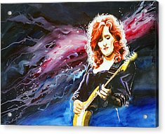 Bonnie Raitt Acrylic Print by Ken Meyer jr
