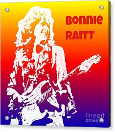 Bonnie Raitt Pop Art Acrylic Print by John Malone