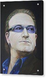 Bono Acrylic Print by Eamon Doyle