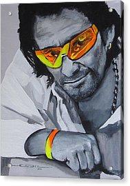 Bono  U2 2 U Acrylic Print by Eric Dee