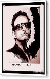 Bono U2 Acrylic Print by Liam O Conaire