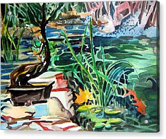 Bonsai Meditations Acrylic Print by Mindy Newman