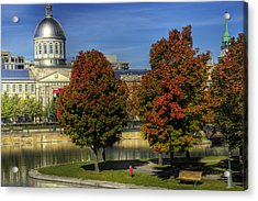 Acrylic Print featuring the photograph Bonsecours Market by Nicola Nobile