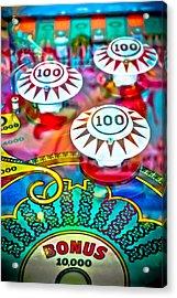 Bonus Points - Pinball Acrylic Print