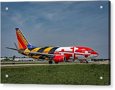 Boeing 737 Maryland Acrylic Print by Guy Whiteley