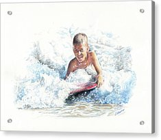 Boogie Boarding Acrylic Print