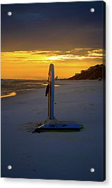 Boogie Boards At Sunset Acrylic Print