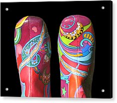 Boogie Shoes 2 Acrylic Print by Mary Johnson