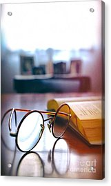 Book And Glasses Acrylic Print