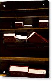 Book Of Worship II Acrylic Print by Carol Hathaway