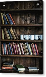Book Shelf Acrylic Print