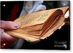Book Torah Acrylic Print by Stas Krupetsky