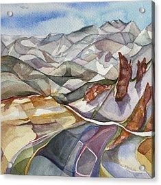 Bookends - Alta/snowbird Utah Acrylic Print by Lynne Bolwell