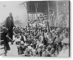 Booker T. Washington Addressing Acrylic Print by Everett