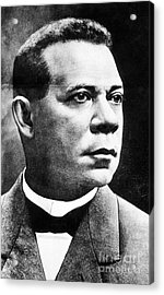 Booker T. Washington, African-american Acrylic Print by Photo Researchers
