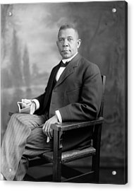 Booker T Washington Acrylic Print by War Is Hell Store
