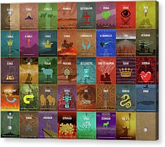 Books Of The Old Testament Graphic Design Minimal Poster Series Complete Acrylic Print