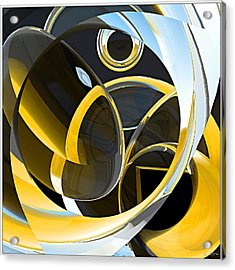Boolean Refractions Acrylic Print by Peter J Sucy