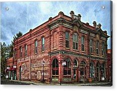 Boomtown Saloon Jacksonville Oregon Acrylic Print by Thom Zehrfeld
