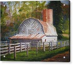 Boone Barn Acrylic Print by Shirley Braithwaite Hunt