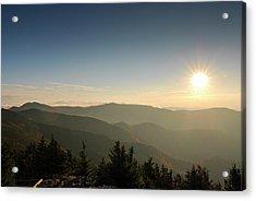 Boone Nc Area Sunset Acrylic Print