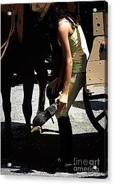Boot Check  Acrylic Print by Steven Digman