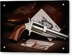 Acrylic Print featuring the photograph Boot Gun Still Life by Tom Mc Nemar