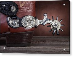 Boot Heel With Texas Spur Acrylic Print by Tom Mc Nemar