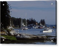 Boothbay Harbor In Maine Acrylic Print by Darleen Stry
