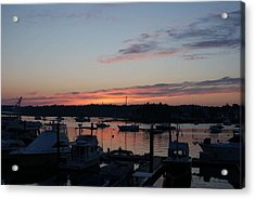 Boothbay Sunset Acrylic Print by Lois Lepisto