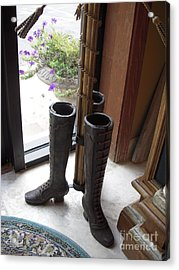 Boots Acrylic Print by Deborah Finley