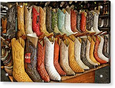 Boots In Every Color Acrylic Print