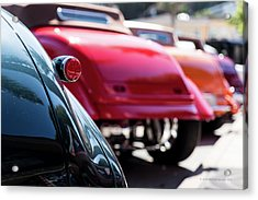 Acrylic Print featuring the photograph Boots Of Colorful Cars by Lora Lee Chapman