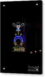 Boots On Broadway Acrylic Print by David Bearden