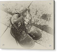 Boots Reno Acrylic Print by Ann Tracy